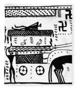 Athenian Chariot Fleece Blanket