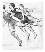 Athletics: Track, 1890 Fleece Blanket