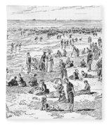 Atlantic City, 1890 Fleece Blanket
