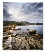 Atlantic Coast In Newfoundland Fleece Blanket