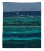 Atlantic Ocean Afternoon Fleece Blanket
