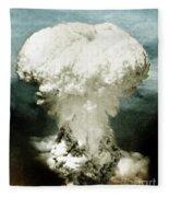 Atomic Bombing Of Nagasaki Fleece Blanket