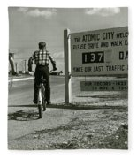 Atomic City Tennessee In The Fifties Fleece Blanket