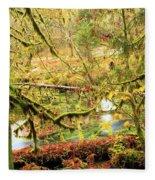 Attack Of The Moss Fleece Blanket