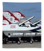 Attention Thunderbirds Fleece Blanket