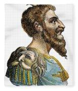Attila, King Of The Huns Fleece Blanket