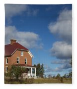 Au Sable Lighthouse 4 Fleece Blanket