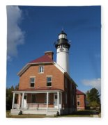 Au Sable Lighthouse 7 Fleece Blanket