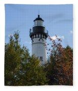 Au Sable Lighthouse 8 Fleece Blanket