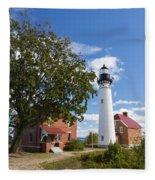 Au Sable Lighthouse 9 Fleece Blanket