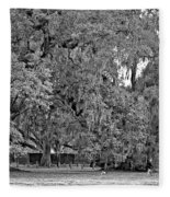 Audubon Park 2 Monochrome Fleece Blanket