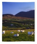 Aughrim Hill, Mourne Mountains, County Fleece Blanket