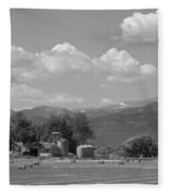 August Hay 75th  St Boulder County Colorado Black And White  Fleece Blanket