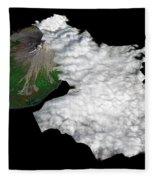 Augustine Volcano, Alaska Fleece Blanket