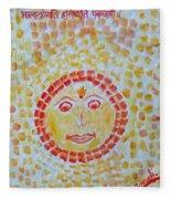 Aum Aadityay Namah Fleece Blanket