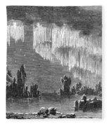 Aurora Borealis, 1868 Fleece Blanket
