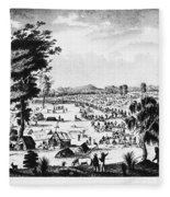 Australia: Gold Rush, 1851 Fleece Blanket