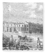 Australia: Melbourne, 1853 Fleece Blanket