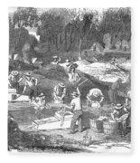 Australian Gold Rush, 1851 Fleece Blanket