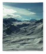 Austria Snow Mountain Fleece Blanket