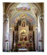 Austrian Church Interior Fleece Blanket