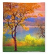 Autum Morning Fleece Blanket
