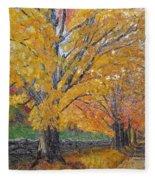 Autum Trail Fleece Blanket