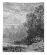 Autumn, 1873 Fleece Blanket
