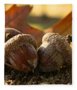 Autumn Acorns Fleece Blanket