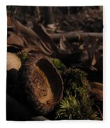 Autumn And Acorns Fleece Blanket