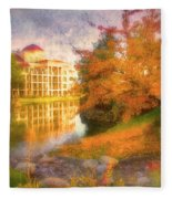 Autumn And Architecture Fleece Blanket
