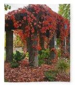 Autumn Arbor In Grants Pass Park Fleece Blanket