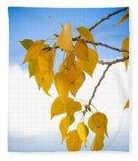 Autumn Aspen Leaves Fleece Blanket