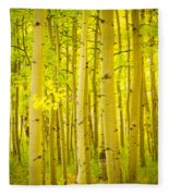 Autumn Aspens Vertical Image  Fleece Blanket