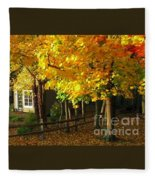 Autumn At Bayberry Cottage  Fleece Blanket