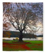Autumn At British Camp Fleece Blanket
