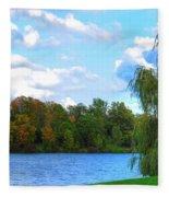 Autumn At Hoyt Lake Fleece Blanket