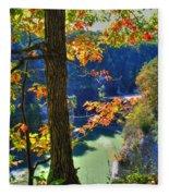 Autumn At Letchworth State Park Fleece Blanket