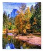 Autumn At Yosemite Fleece Blanket