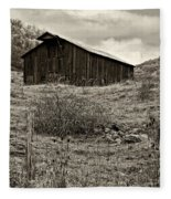 Autumn Barn Sepia Fleece Blanket