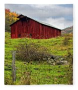 Autumn Barn Fleece Blanket