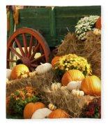 Autumn Bounty Vertical Fleece Blanket