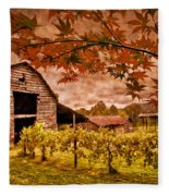 Autumn Cabernet Fleece Blanket