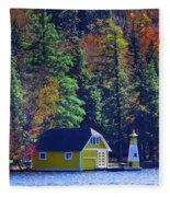 Autumn Color 5 Fleece Blanket