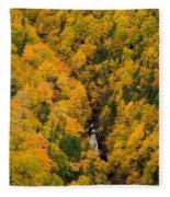 Autumn Colour And Waterfalls, Cape Fleece Blanket
