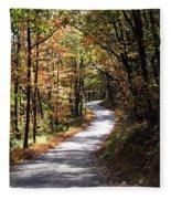 Autumn Country Lane Fleece Blanket