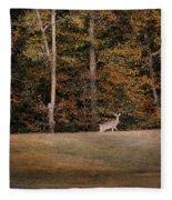 Autumn Deer Fleece Blanket