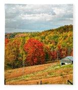 Autumn Farm 2 Fleece Blanket