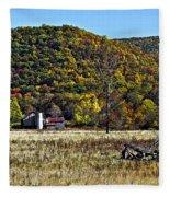 Autumn Farm Painted Fleece Blanket
