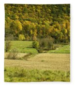 Autumn Farm Vista Fleece Blanket